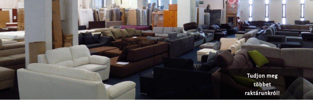 Bútor raktárunk kanapékkal és franciaágyakkal egyaránt várjuk