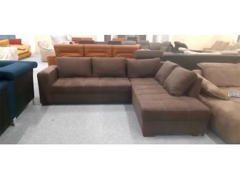 Aura barna ágyazható sarok ülőgarnitúra