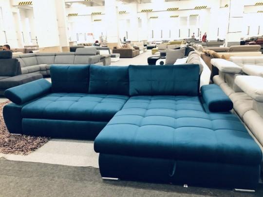 Hello kék ágyazható sarok ülőgarnitúra