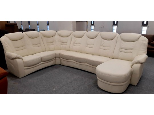 Home plain törtfehér U alakú ülőgarnitúra