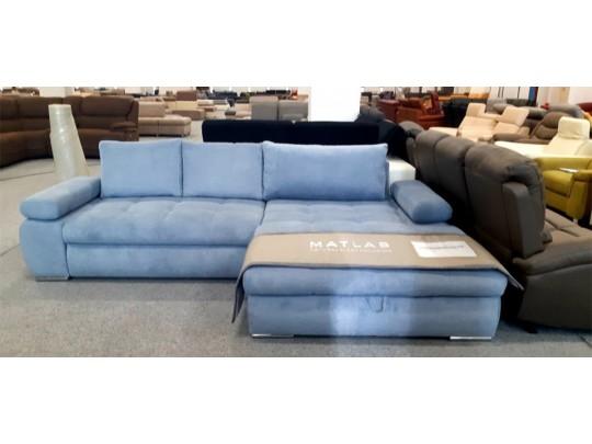 Inferno kék színű sarok ülőgarnitúra