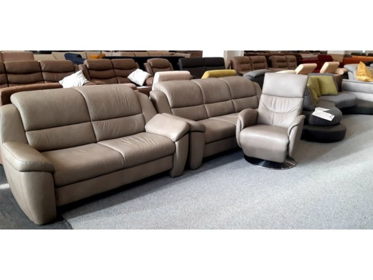 Multi motion bőrszett fotellel