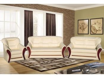 S122 3-2-1 fehér ülőgarnitúra