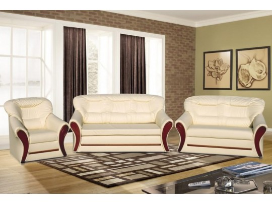 S123 3-1-1 fehér ülőgarnitúra